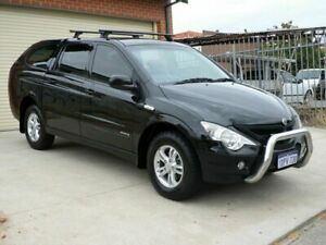 2011 Ssangyong Actyon Sports 100 Series MY11 Sports Black 6 Speed Automatic Utility Mount Lawley Stirling Area Preview