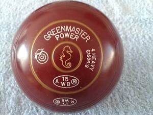 LAWN BOWLS, GREENMASTER POWER, SIZE 4, W/B15,RESTAMPED 17. Wyong Wyong Area Preview