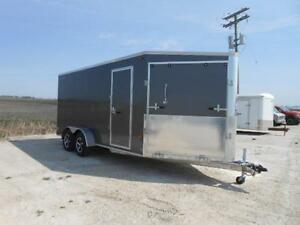 2016 Rainbow Trailers 7X16 Aluminum Summit Sled Trailer *DEMO*