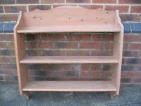 A Pine Wooden Shelving Unit (Item A)