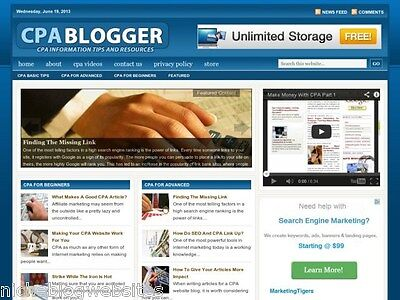 New Cpa Blogger   Cost Per Action Wordpress Blog Website For Sale