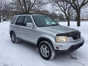 2000 HONDA CRV ,4X4 ,AUTOMATIQUE  SIEGES CUIR , DEMARREUR, 2.0 L