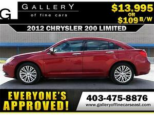 2012 Chrysler 200 Limited V6 $109 bi-weekly APPLY NOW DRIVE NOW