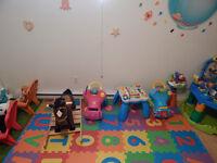 Garderie en milieu familial Places Disponibles(6 mois a 5 ans)