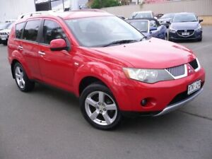 2006 Mitsubishi Outlander ZG MY07 LS Red 6 Speed Constant Variable Wagon Melrose Park Mitcham Area Preview