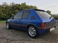 Miami blue 205 gti (full years mot)