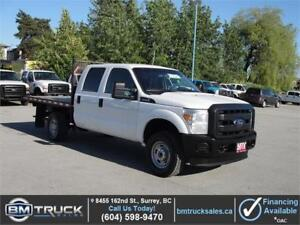 2015 FORD F-350 SUPER DUTY XL CREW CAB FLAT DECK 4X4 1 TON