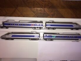 Jouef / Hornby HO train set - large layout - with collectible locos and carriages