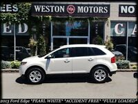 2013 Ford Edge PEARL WHITE* ACC FREE*100% FINANCE APPROVED!