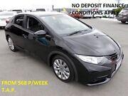 2012 Honda Civic 9th Gen VTi-L Black 5 Speed Sports Automatic Hatchback Slacks Creek Logan Area Preview