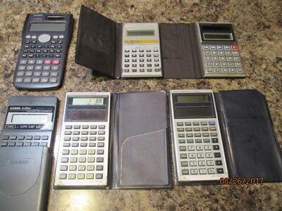 calculatrices Mélange Lot tout testé et marcher 5 in étuis