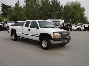 2002 GMC SIERRA 2500HD EXT CAB LONG BOX 4X4 *DIESEL*