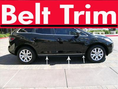 (Mazda CX-7 CX7 CHROME SIDE BELT TRIM DOOR MOLDING 2007 2008 2009 2010 2011 2012)