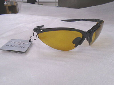 8ae086154d Ugly Fish Polarised Sunglasses PT6675 Shiny Black With Yellow Lens