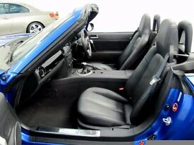 Mazda MX5 2.0i Sport 6 Speed Blue Convertable with Private Plate