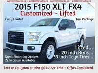 2015 FORD F150 XLT FX4 Lifted & Customized Great Financing!!!