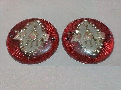 Bsa Round Tank Badges - B31 B33 A7 A10 1957-62 - Pair