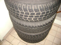 4 summer tires with the rims p235/70 r16