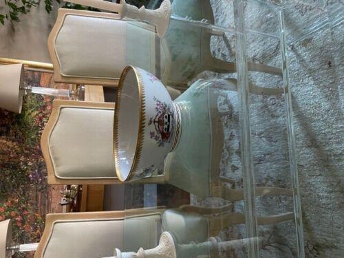 Porcelain 19th Century Armorial Punch Bowl Made by Edne Samson and Cir of Paris