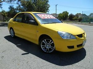 2005 Mitsubishi Lancer CH ES Yellow 5 Speed Manual Sedan Nailsworth Prospect Area Preview