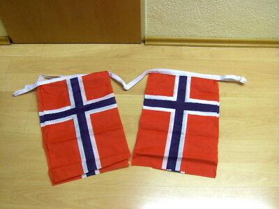 Fahnen Flagge Flaggenkette Norwegen 6 Meter 8 Fahnen gebraucht kaufen  Hannover