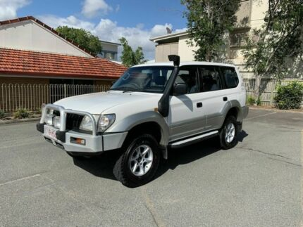 2002 Toyota Landcruiser Prado KZJ95R GXL White 5 Speed Manual Wagon Chermside Brisbane North East Preview