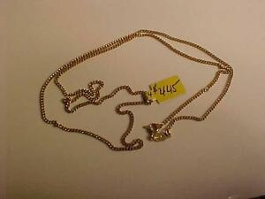 "#1009-18K Curb Link Yellow gold chain 25"" long  --8.54 grams-Great investment-see picture of 18k crucifix to match."