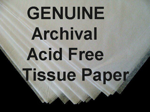 "25 Sheets ACID FREE White Tissue Paper UNBUFFERED LG 20 x 30"" FREE SHIPPING"