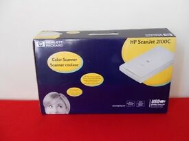 HP ScanJet 2100c Colour Scanner, as new, unused,