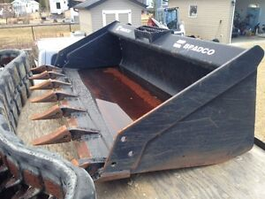 "60"" Skidsteer Tooth Bucket Heavy Duty Like New"