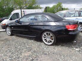2007 07 new modl bmw 320 m sport 2l convertible mot 1 yeasr ex we car 2 set of keys £5595