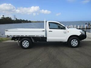 2012 Toyota Hilux KUN26R MY12 Workmate (4x4) White 4 Speed Automatic Cab Chassis Horsley Wollongong Area Preview