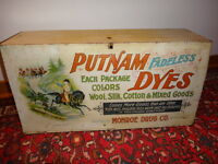 Antque Putnam Dye General Store Tin Display Cabinet