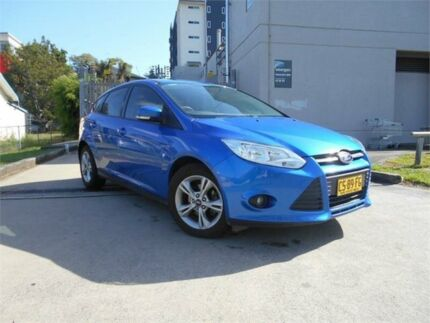 2013 Ford Focus LW MKII Trend PwrShift Blue 6 Speed Sports Automatic Dual Clutch Hatchback Southport Gold Coast City Preview