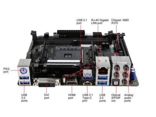 BIOSTAR X370GTN AM4 AMD X370 SATA 6Gb/s USB 3 1 HDMI Mini ITX AMD