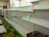 Shop shelving by Arneg
