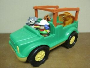 Jeep safari sonore et ses 4 figurines de Little People