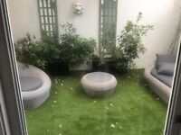 Artificial Grass lawn- Beautifully lush Green 4 x 3,5 m! TOP Quality
