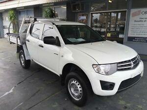 2011 Mitsubishi Triton MN MY11 GLX White 5 Speed Manual 4D UTILITY Hamilton Newcastle Area Preview