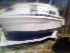 22 foot small cabin cruiser and trailer to trade for truck Belleville Belleville Area image 1