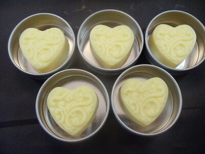Heart Lotion Bars with Tin- Hostess Gifts- Shower Favors - Wedding Favors Lotion Wedding Favors