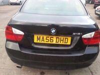 BMW 318I ES 56 REG BLACK SERVICE HISTORY 4DR SALOON
