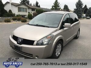 2005 Nissan Quest 7 PASSENGER-DVD-ACCIDENT FREE!