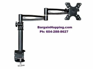 "10""- 25"" 3 Way Adjustable Tilting TV Monitor Desk Mount Bracket"