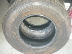 2 Like New Motomaster Tires  235 75 15