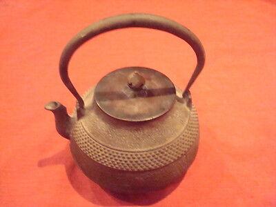 Japanese Antique CAST Iron Tea HAILSTONE TEAPOT Kettle Tetsubin   Meiji Period ?