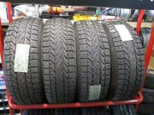 205/60 R16 WINTER TIRES ON STEEL RIMS BF GOODRICH USED SNOW TIRES (SET OF 4) - APPROX. 90% TREAD W/TPMS