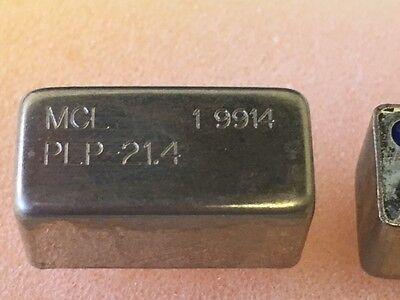 1x Mini-circuits Plp-21.4  Low Pass Filter 24.5mhz 50 Ohm Case A01 8 Pin