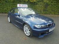 04 54 BMW 330 3.0 automatic / triptronic Ci Sport coupe in topaz blue metalic