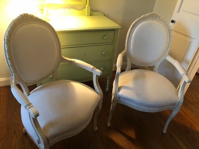 Pair of antique French Provincial Louis XVI chairs